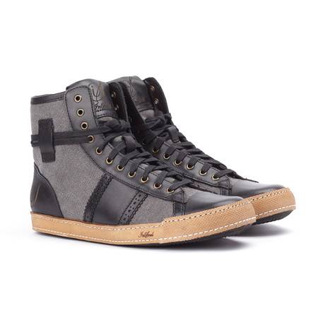 High Top Sneaker // Black (US: 7)
