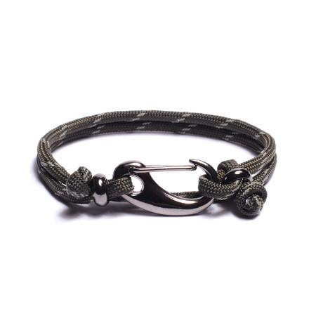 Military Green Reflective Cord Bracelet