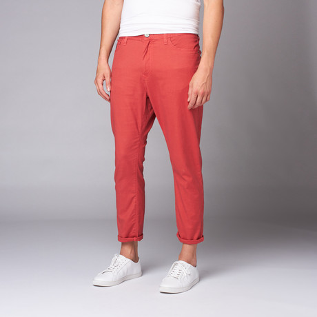 Howe // New Slang Cropped Pant // Apple Red