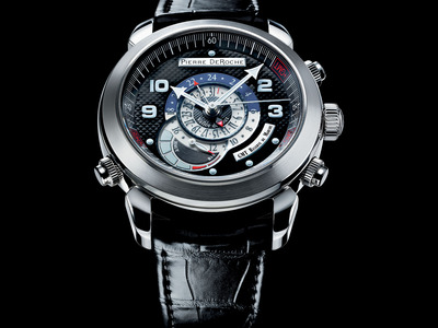 Photo of Pierre DeRoche Exceptional Luxury Timepieces Pierre DeRoche Grandcliff GMT Power Reserve Automatic // GRC10002ACI0-001CRO by Touch Of Modern