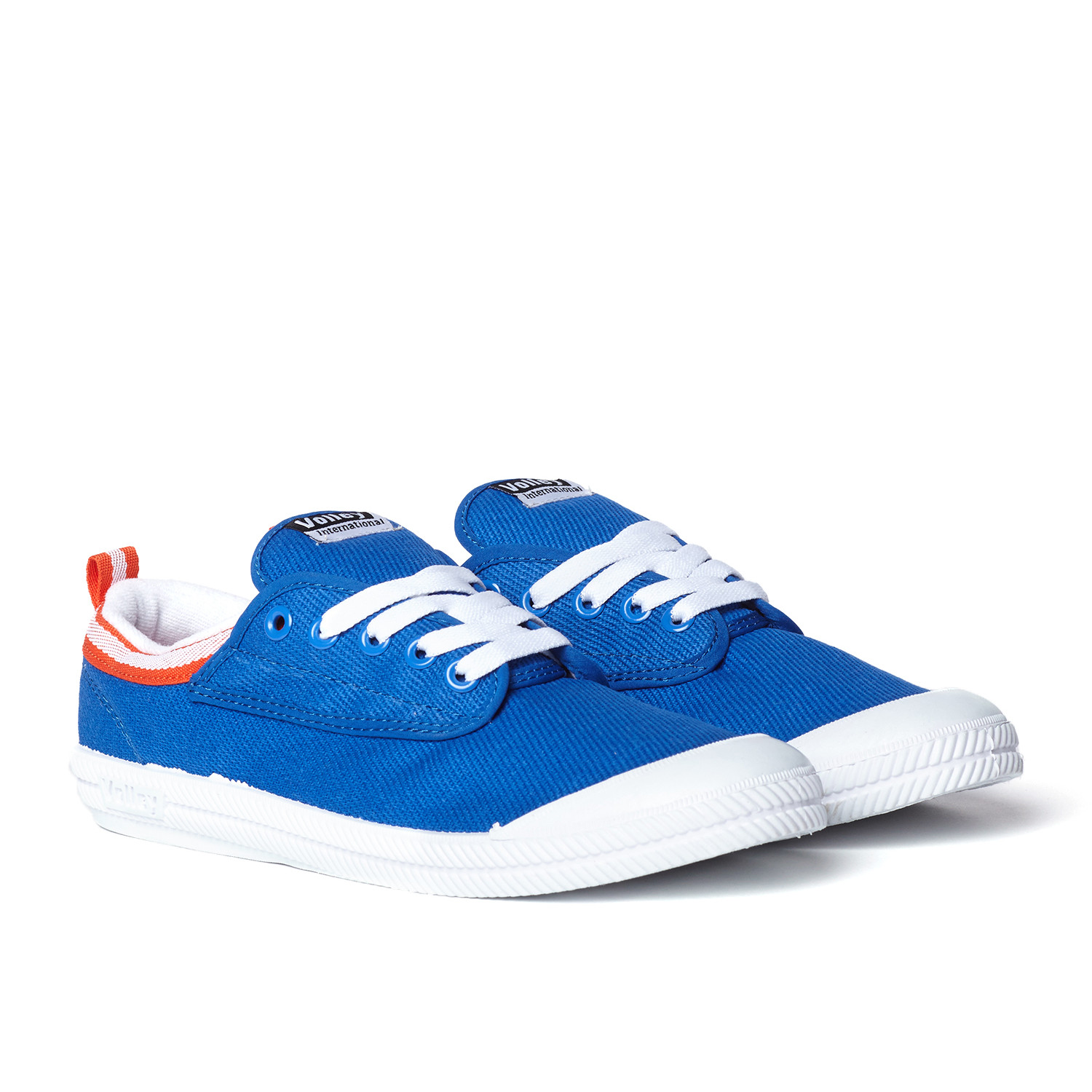 International Canvas Low Top Sneaker Blue + Red + White
