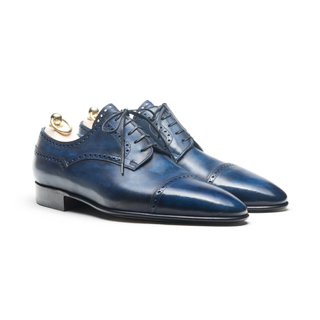 Stefano Bemer // Oxford Detailed Dress Shoe // Naxos Antique Blue