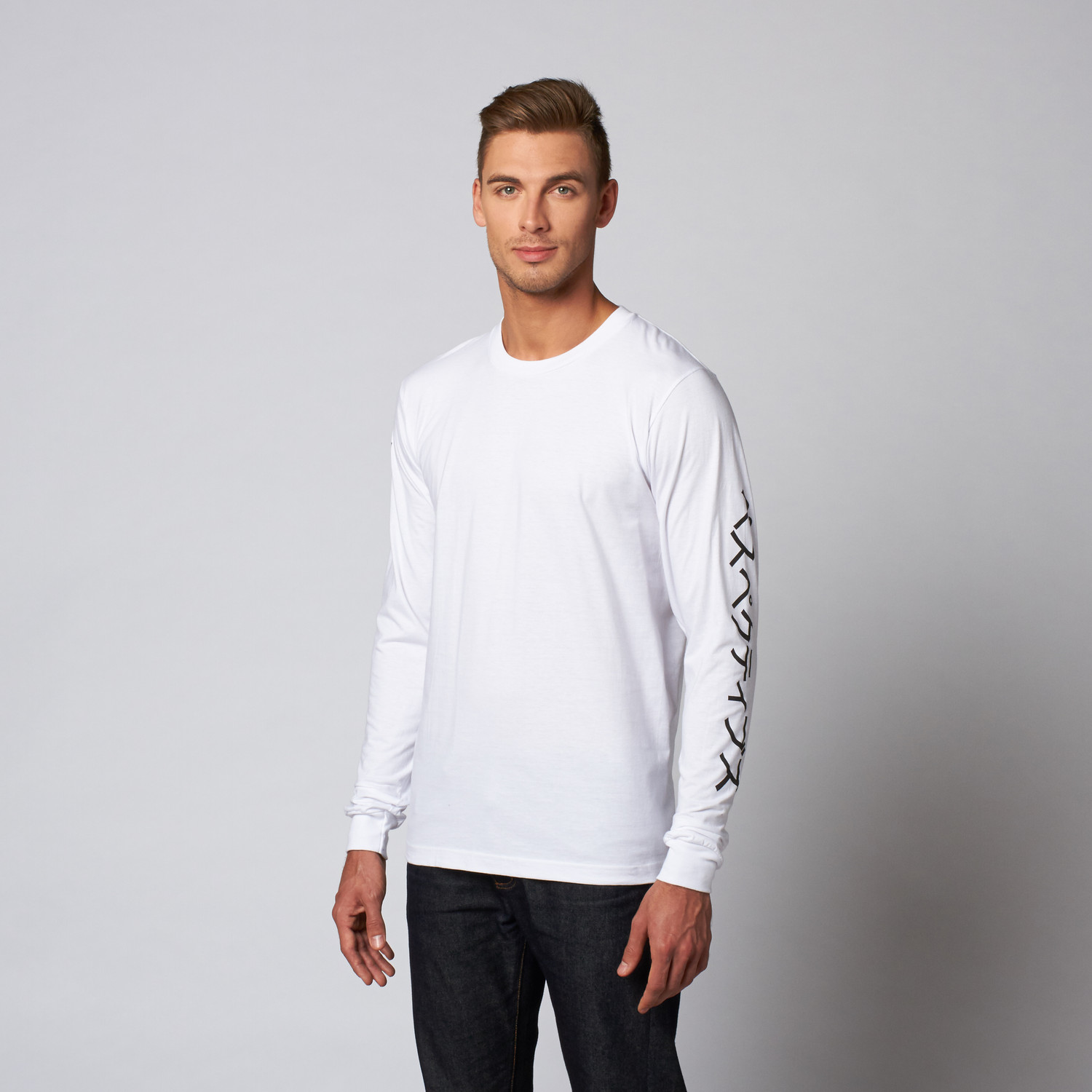 Uniform Stripes Long-Sleeve Tee // White (S) - Perspectives - Touch of ...