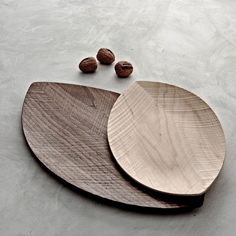 Leaf Serving Tray Wood // Large (Maple Wood)