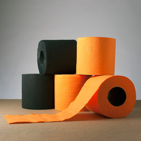 Renova Tissue // Black + Orange - Renova Colored Toilet ...