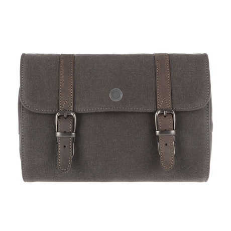 Leather Roll Out Travel Bathroom Bag