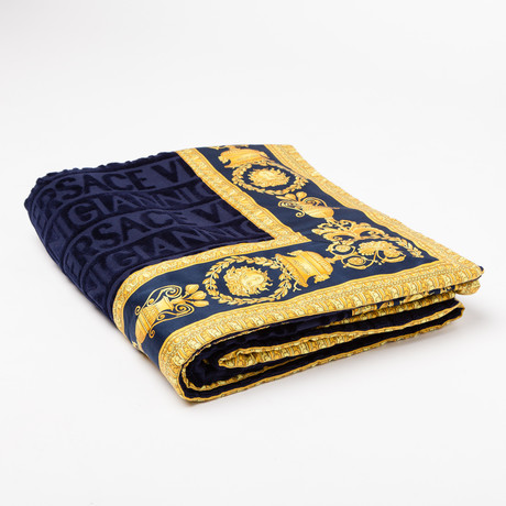 Versace San Tropez Beach Towel // Blue