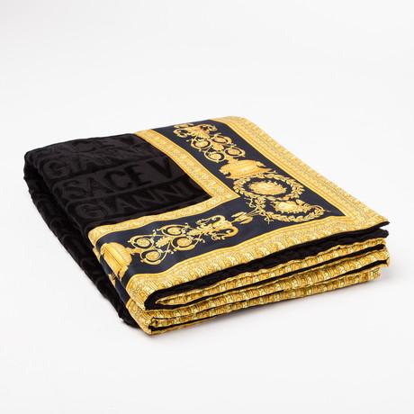 Versace San Tropez Beach Towel // Black