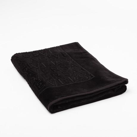Versace Beach Towel // Black