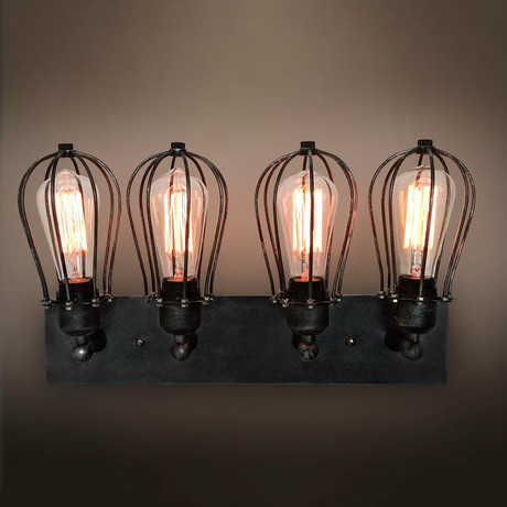 4-Armed Vanity Lighting Wall Sconces