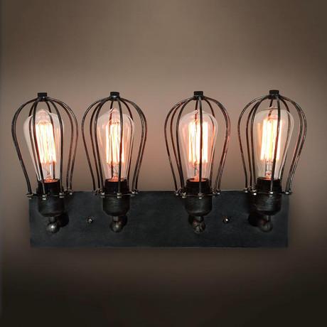 4-Armed Vanity Lighting Wall Sconces