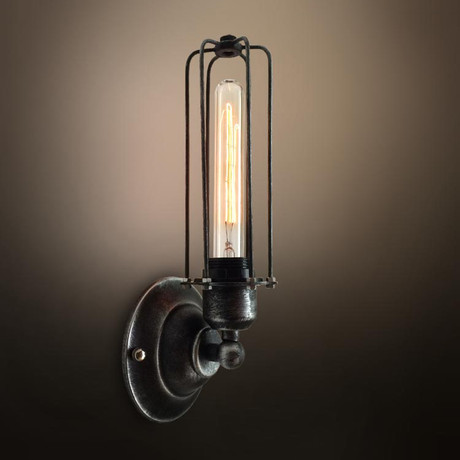 Linear Cage Sconce // 1 Arm