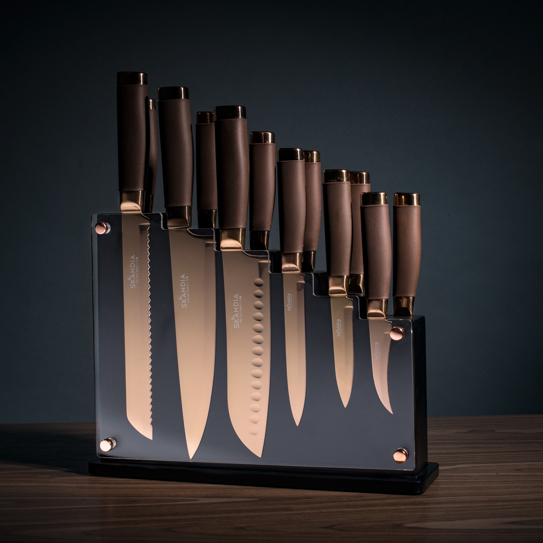 Skandia Forte 13 Piece Cutlery Block Set Hampton Forge Touch Of Modern