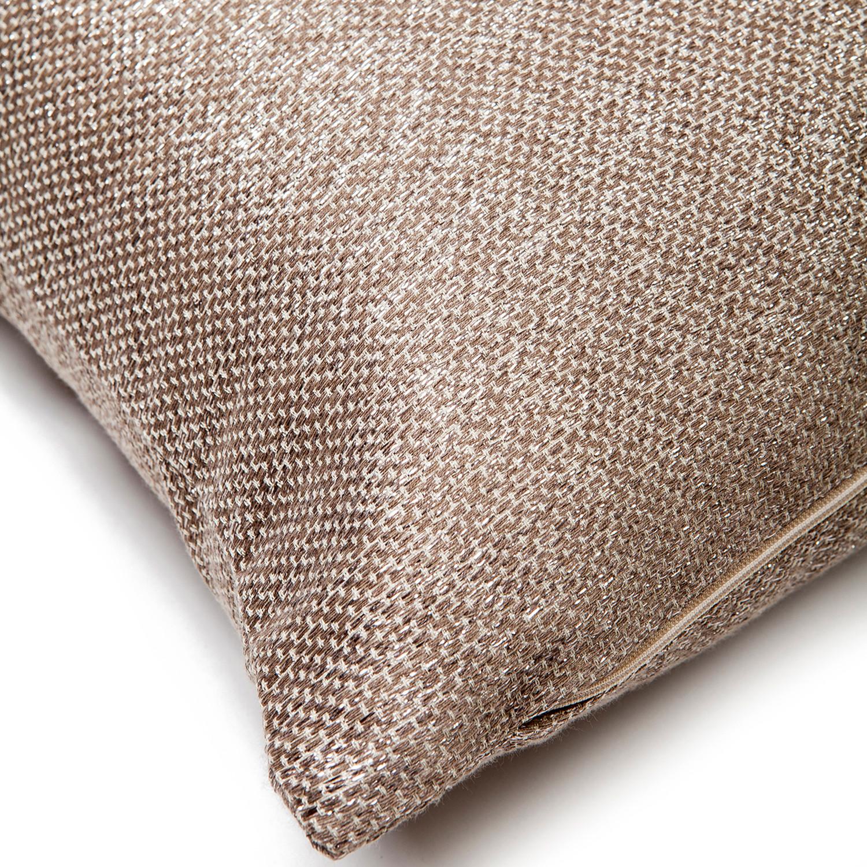 decorative cushion cover silver beige 15 7 l x 15 7 w casa di bassi touch of modern. Black Bedroom Furniture Sets. Home Design Ideas