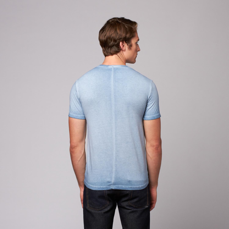 Jetlag v neck pocket t shirt ocean blue 2xl for Ocean blue t shirt