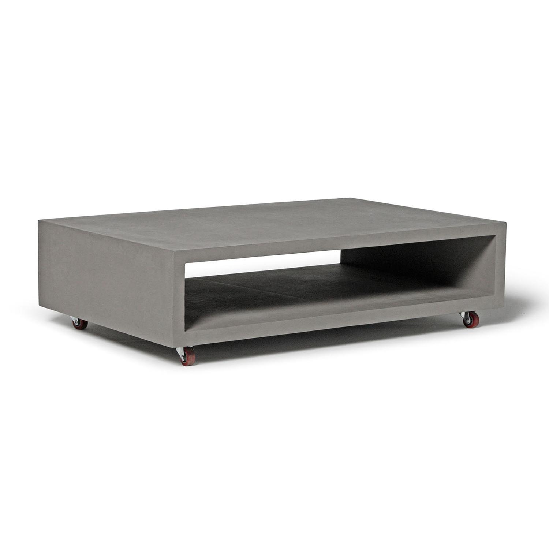 monobloc coffee table w 2 wheels lyon beton touch. Black Bedroom Furniture Sets. Home Design Ideas