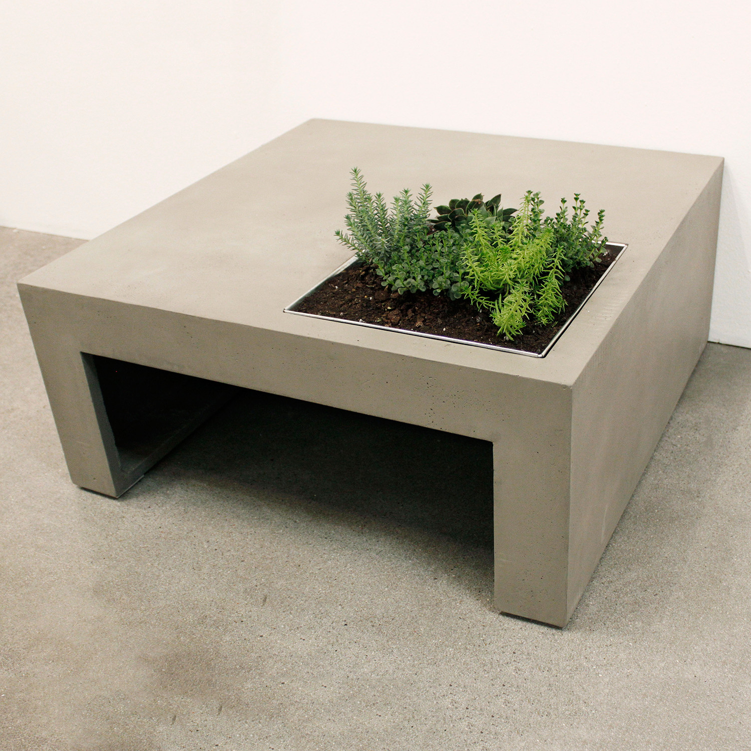 Green Coffee Table Square Lyon Beton Touch Of Modern