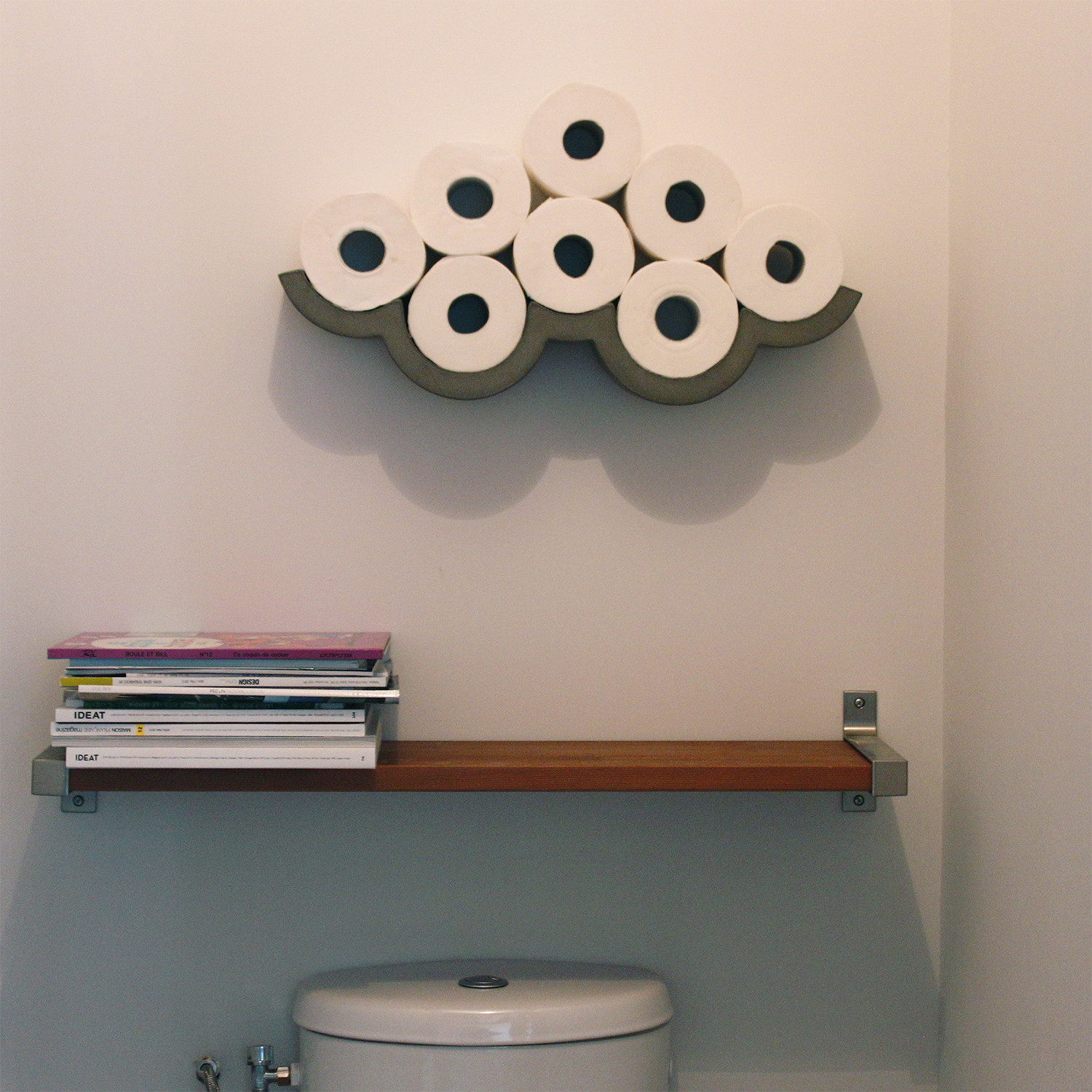 cloud toilet paper shelf small lyon beton touch