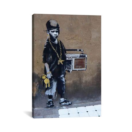 """BBoy // Banksy (26""""H x 18""""W x 0.75""""D)"""