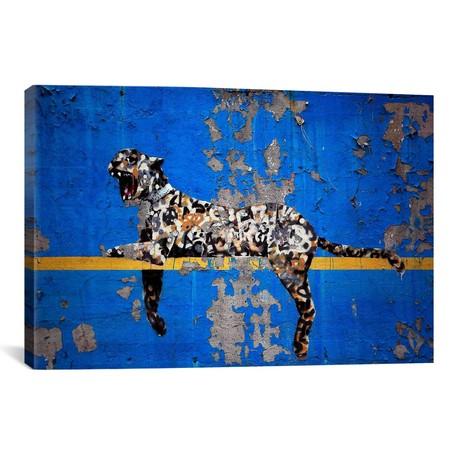 "Yankee Stadium Tiger // Banksy (26""W x 18""H x 0.75""D)"