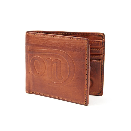 Debossed Wallet // Tan