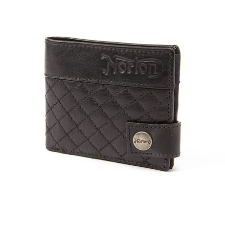 Stitiched Wallet // Black