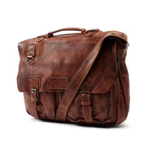 Leather Satchel // Tan