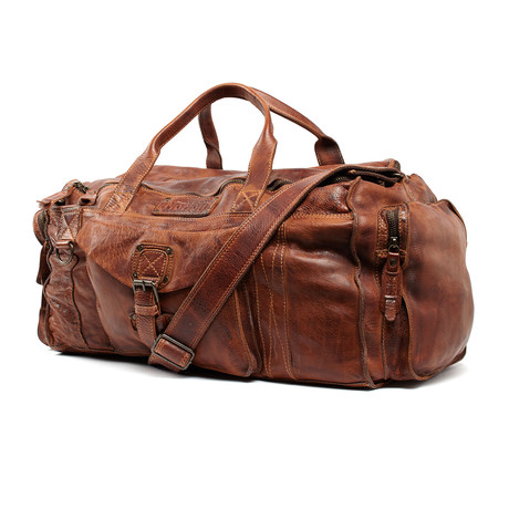Leather Holdall // Tan