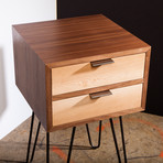 "Zero Hour Nightstand (12"" Hairpin Legs)"