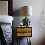 "Zero Hour Nightstand with Magnet (12"" Hairpin Legs)"