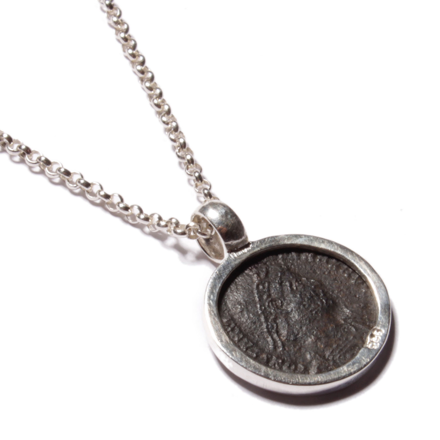 medallion rider necklace roman coins coin