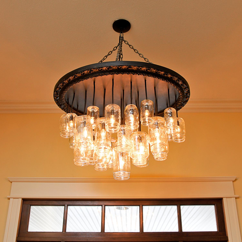 Mason jar chandelier oval dirk nykamp design touch of modern mason jar chandelier oval aloadofball Images