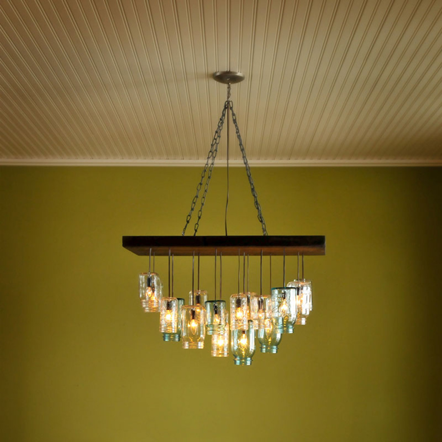 Mason Jar Chandelier Rectangle Dirk Nykamp Design Touch of