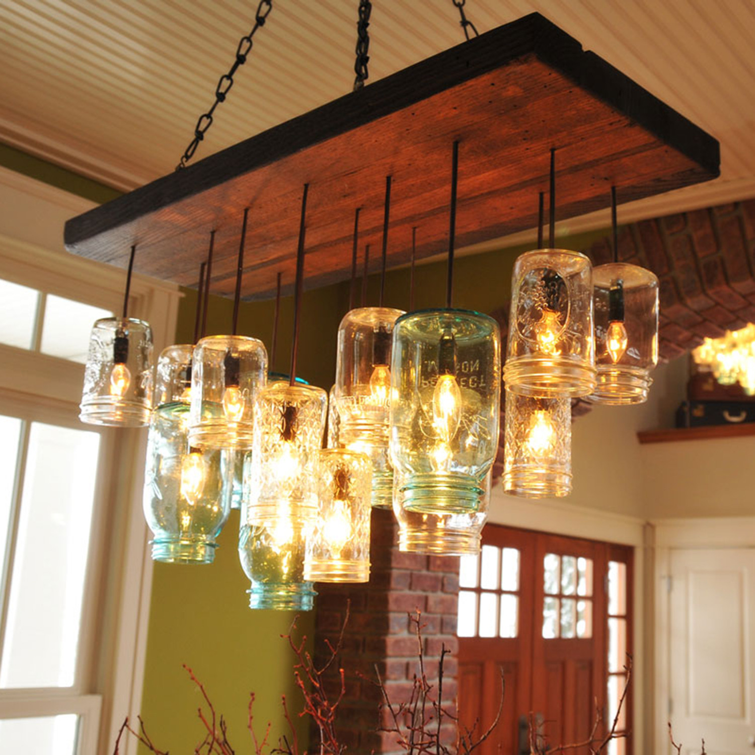 Mason Jar Chandelier Rectangle