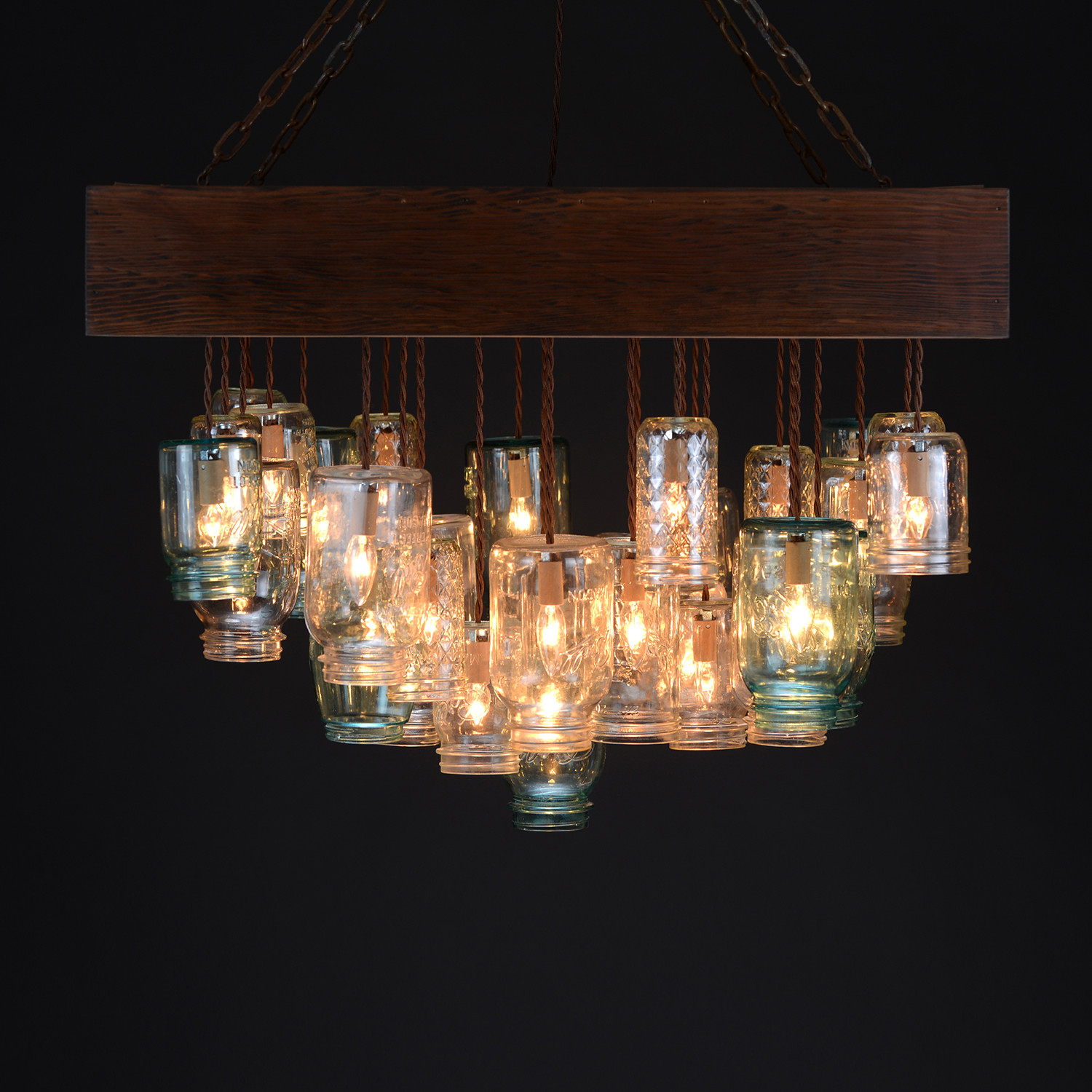 Mason Jar Chandelier Square