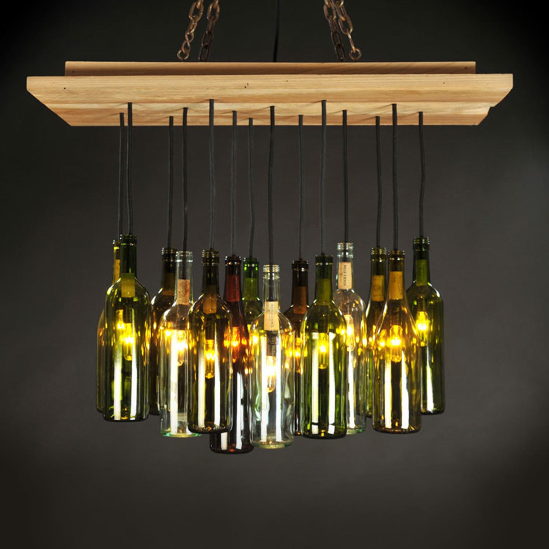 Wine bottle chandelier dirk nykamp design touch of modern - Wine bottles chandelier ...