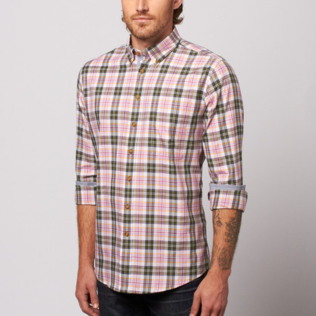 MINE Apparel // Plaid Button Down // Rose (M)