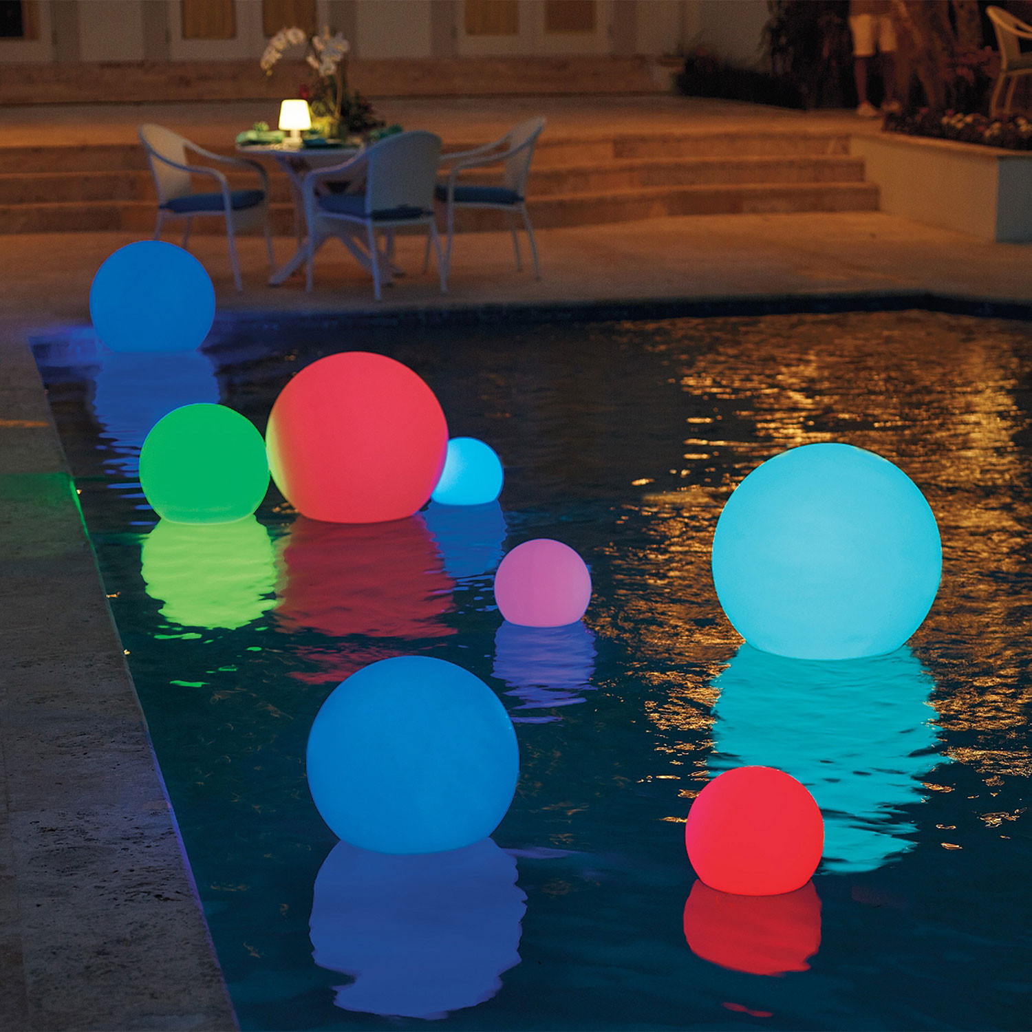 Led Ball Outdoor Light Xx Small 9 85 Quot Dia