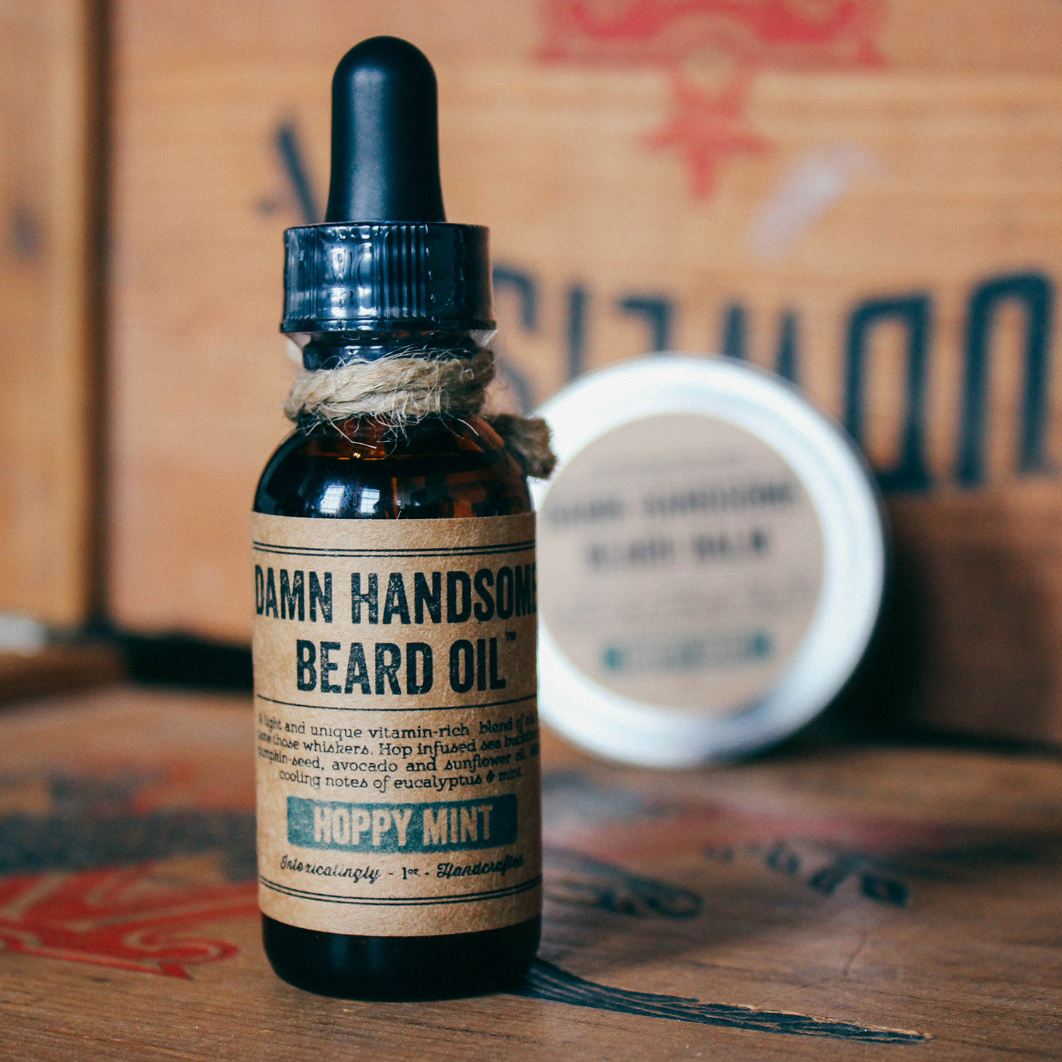 beard maintenance kit hoppy mint damn handsome grooming co touch of m. Black Bedroom Furniture Sets. Home Design Ideas