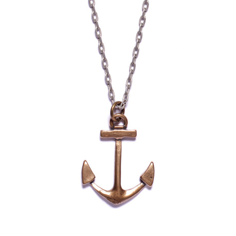Bronze Anchor Necklace