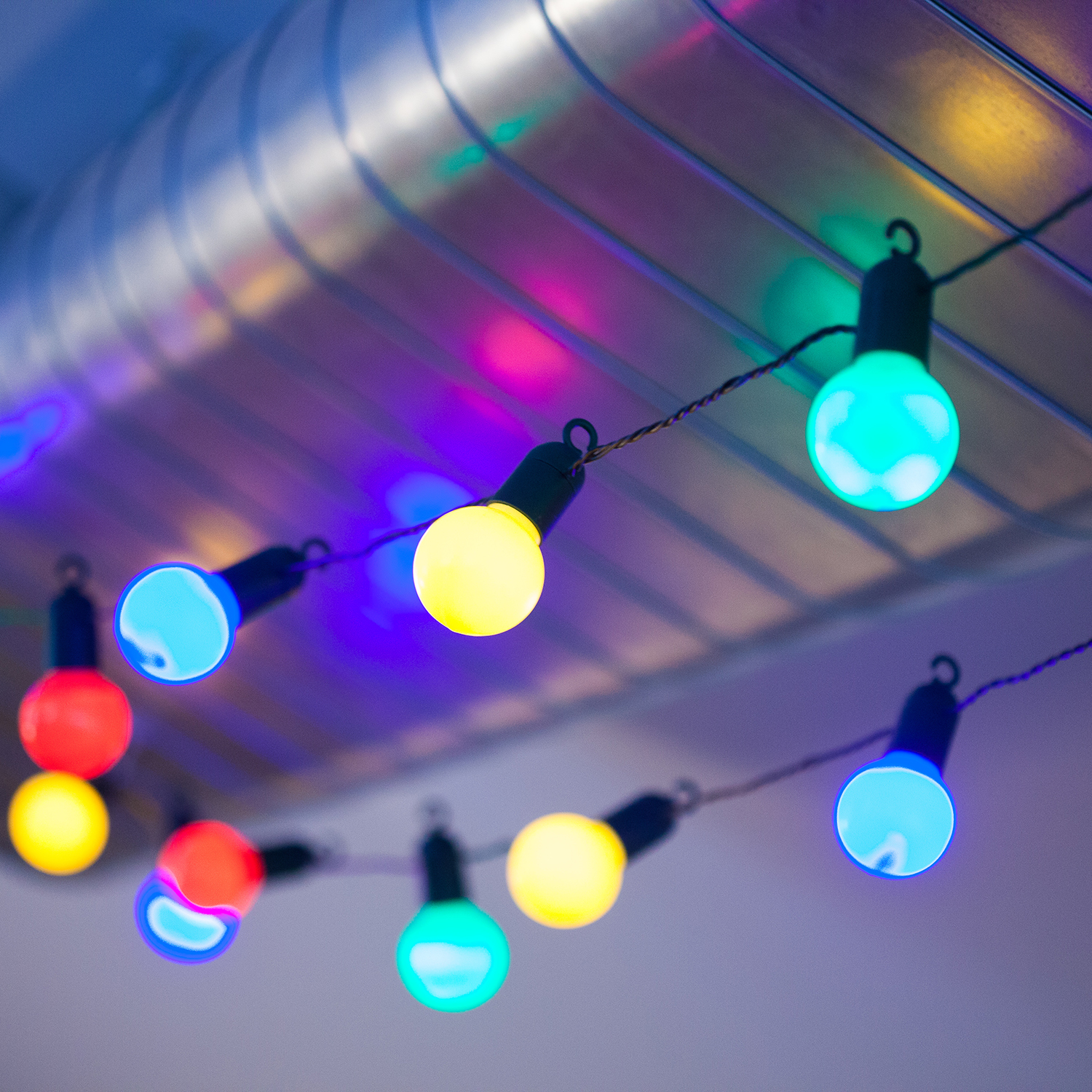 multicolor party globe outdoor lighting touch of modern