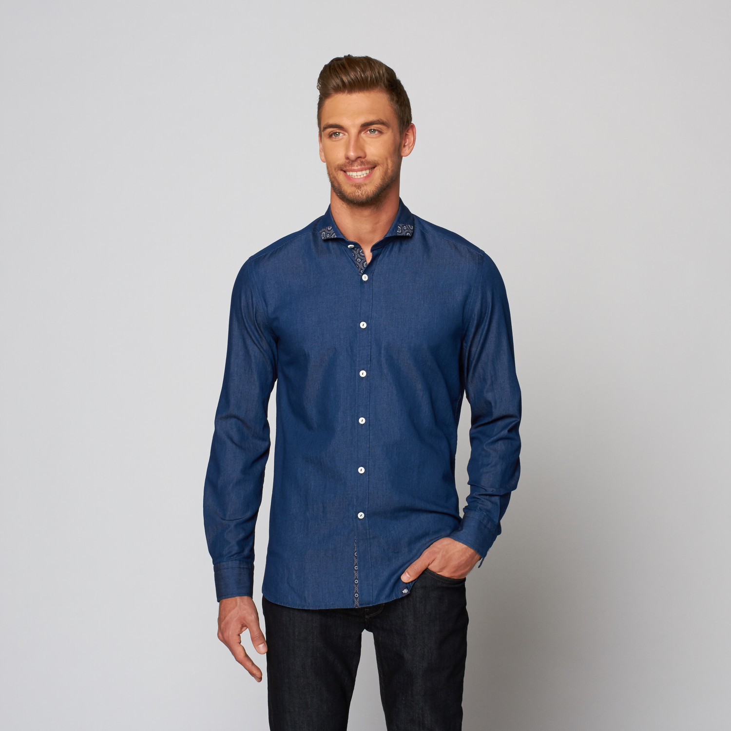 Match a long-sleeve shirt with our western suits and bolo ties, or go more casual with a western t-shirt and denim jeans. All of our cowboy shirts are on sale, so happy shopping! All of our cowboy shirts are on sale, so happy shopping!
