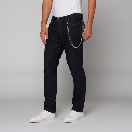 The Kooples // Indigo Jean + Chain // Indigo Brut (28WX32L)