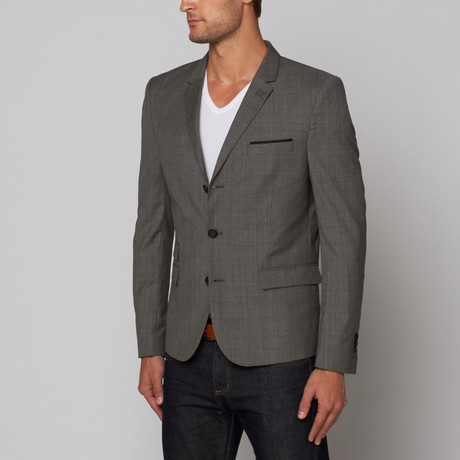 The Kooples // Caviar Suit Jacket // Black Ecru (Euro: 44)