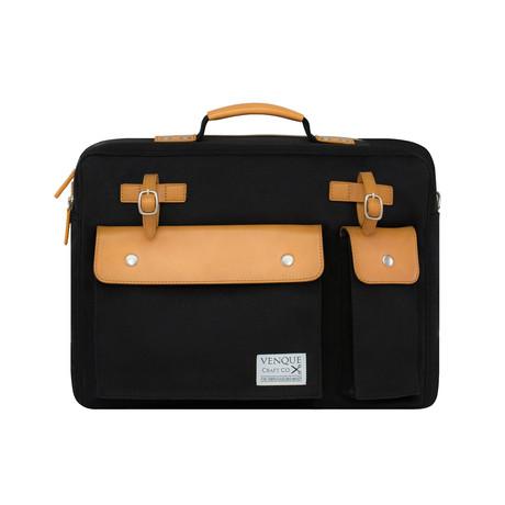 Milano Briefcase // Black
