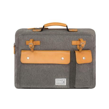 Milano Briefcase // Grey