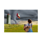 "Dorothy and the Tornado (15""W x 10""H)"