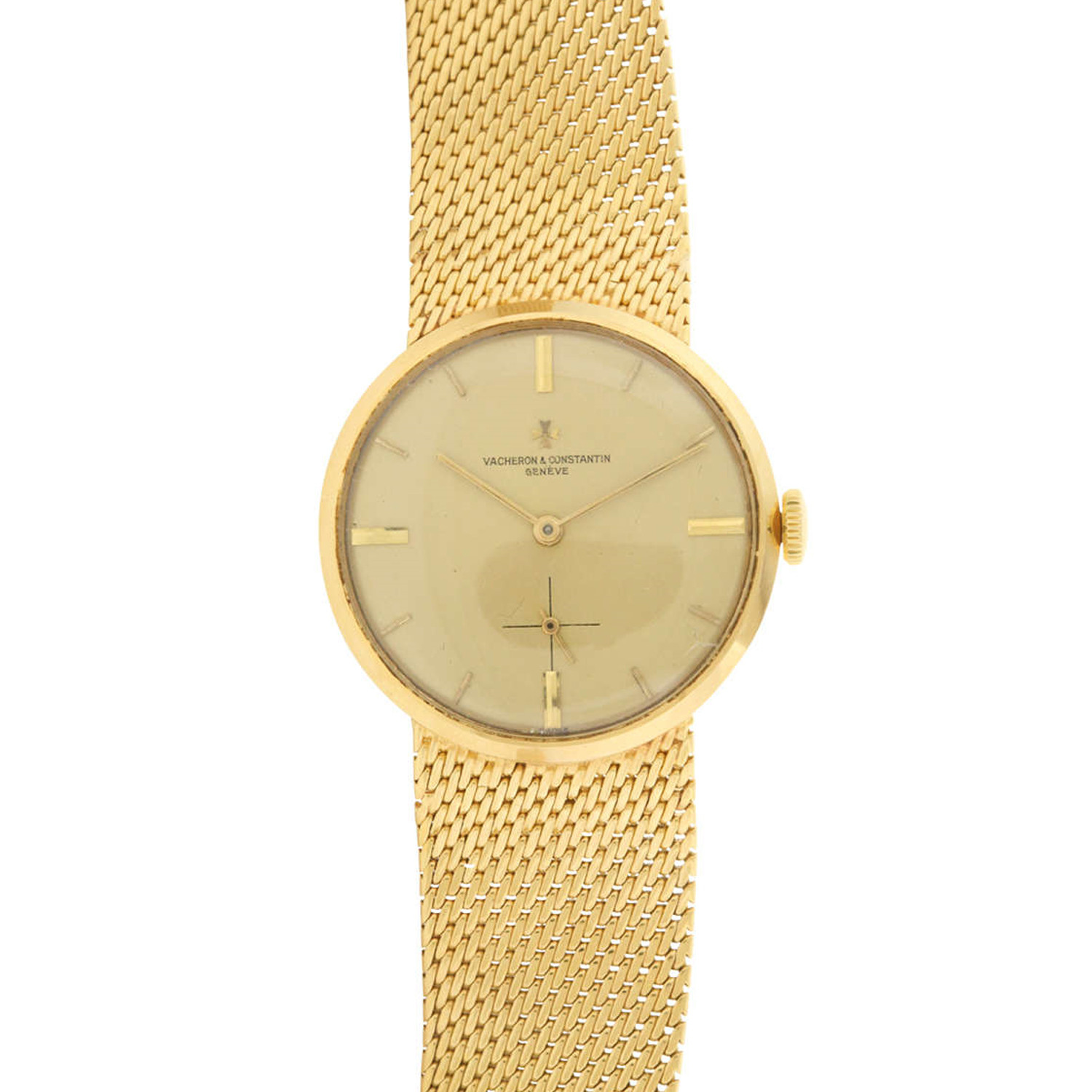 Vacheron constantin 18k yellow gold bracelet watch exceptional vintage watches for Vintage gold watch
