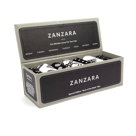 Sock Box // Black + White // Set of 7