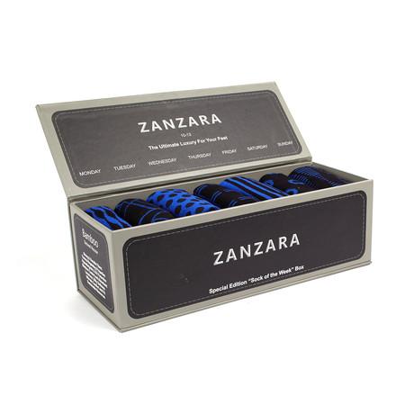 Sock Box // Blue + Black // Set of 7